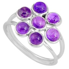5.51cts natural purple amethyst 925 sterling silver ring jewelry size 8.5 p89863
