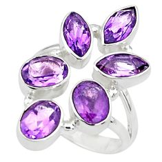 10.37cts natural purple amethyst 925 sterling silver ring size 7.5 p77724