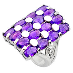 13.10cts natural purple amethyst 925 sterling silver ring size 6.5 p82941