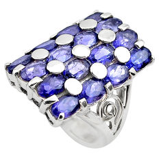 13.10cts natural purple amethyst 925 sterling silver ring size 7.5 p82943