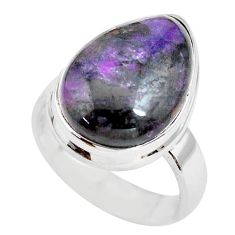 11.27cts natural purple sugilite 925 silver solitaire ring jewelry size 6 p71420