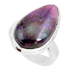 12.83cts natural purple sugilite 925 silver solitaire ring jewelry size 6 p71438