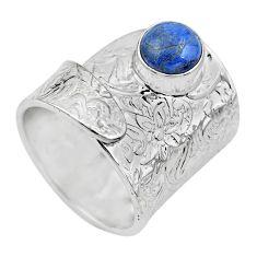 Natural quartz palm stone 925 silver adjustable solitaire ring size 8.5 p61596