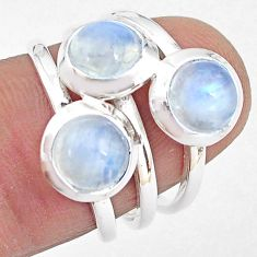 3.41cts natural rainbow moonstone 925 sterling silver ring jewelry size 6 p85813