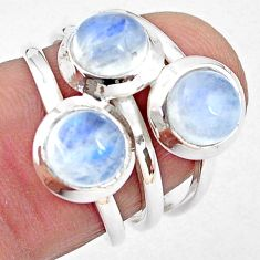 3.29cts natural rainbow moonstone 925 sterling silver ring size 6.5 p85818