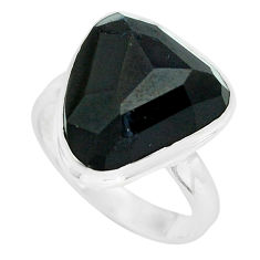 12.83cts natural rainbow obsidian eye 925 silver solitaire ring size 8.5 p68187