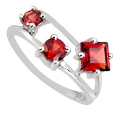 2.23cts natural red garnet 925 sterling silver ring jewelry size 6.5 c5536
