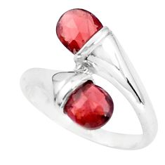 4.80cts natural red garnet 925 sterling silver ring jewelry size 6.5 p37068
