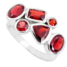 6.31cts natural red garnet 925 sterling silver ring jewelry size 6.5 p37160