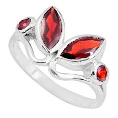 4.04cts natural red garnet 925 sterling silver ring jewelry size 7 p37272
