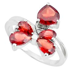 5.22cts natural red garnet 925 sterling silver ring jewelry size 7.5 p37368