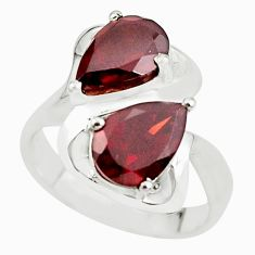 5.69cts natural red garnet 925 sterling silver ring jewelry size 7 p62096