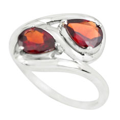 3.51cts natural red garnet 925 sterling silver ring jewelry size 7 p62660