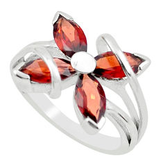 6.04cts natural red garnet 925 sterling silver ring jewelry size 5.5 p62775