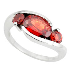 3.93cts natural red garnet 925 sterling silver ring jewelry size 5.5 p73045