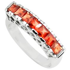2.81cts natural red garnet 925 sterling silver ring jewelry size 6.5 p73149
