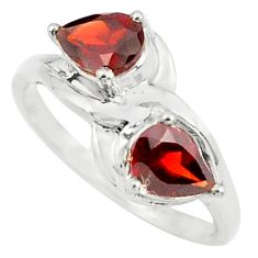 3.29cts natural red garnet 925 sterling silver ring jewelry size 9 p73156