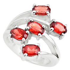 5.18cts natural red garnet 925 sterling silver ring jewelry size 5.5 p73202