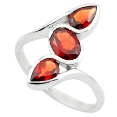 3.51cts natural red garnet 925 sterling silver ring jewelry size 6.5 p73299