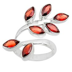 12.04cts natural red garnet 925 sterling silver ring jewelry size 7.5 p77649