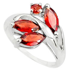 5.96cts natural red garnet 925 sterling silver ring jewelry size 7.5 p81789