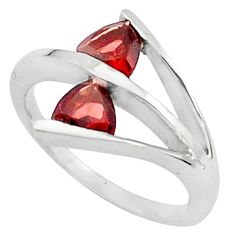 1.70cts natural red garnet 925 sterling silver ring jewelry size 8.5 p81914