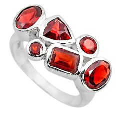 6.83cts natural red garnet 925 sterling silver ring jewelry size 6.5 p82814