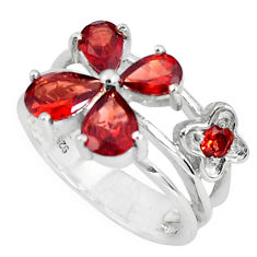 5.93cts natural red garnet 925 sterling silver ring jewelry size 8.5 p82832