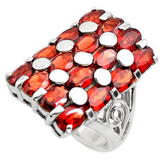 12.82cts natural red garnet 925 sterling silver ring jewelry size 7.5 p82950