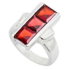 4.13cts natural red garnet 925 sterling silver ring jewelry size 8 p83088