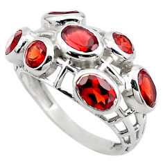 6.26cts natural red garnet 925 sterling silver ring jewelry size 7.5 p83129