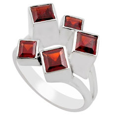 3.72cts natural red garnet 925 sterling silver ring jewelry size 10 p83141