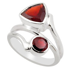 6.55cts natural red garnet 925 sterling silver ring jewelry size 7.5 p83187