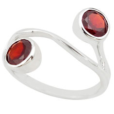 2.93cts natural red garnet 925 sterling silver ring jewelry size 6.5 p83233