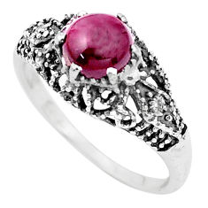 2.42cts natural red garnet 925 sterling silver solitaire ring size 8 p36202