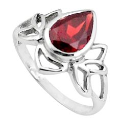 3.11cts natural red garnet 925 sterling silver solitaire ring size 9 p83051