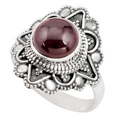 5.31cts natural red garnet 925 sterling silver solitaire ring size 9 p85921