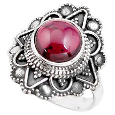 5.08cts natural red garnet 925 sterling silver solitaire ring size 7.5 p85925
