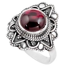5.31cts natural red garnet 925 sterling silver solitaire ring size 9 p85927