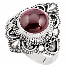 4.92cts natural red garnet 925 sterling silver solitaire ring size 6.5 p85977