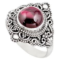 5.08cts natural red garnet 925 sterling silver solitaire ring size 9 p85986