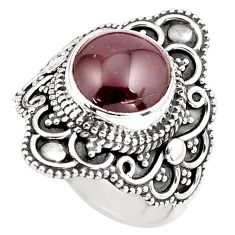 4.67cts natural red garnet 925 sterling silver solitaire ring size 6 p86865