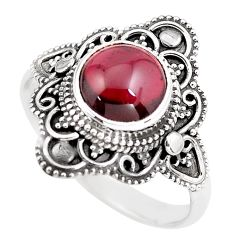 4.86cts natural red garnet 925 sterling silver solitaire ring size 11.5 p86882
