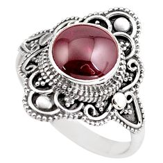 4.69cts natural red garnet 925 sterling silver solitaire ring size 9.5 p86886