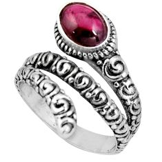 2.10cts natural red garnet 925 sterling silver solitaire ring size 7.5 p89542