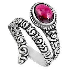 2.11cts natural red garnet 925 sterling silver solitaire ring size 8.5 p89545