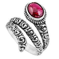2.08cts natural red garnet 925 sterling silver solitaire ring size 7 p92065