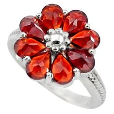 7.97cts natural red garnet pear 925 sterling silver ring jewelry size 5.5 p81770
