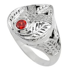 1.62cts natural red garnet topaz 925 sterling silver mens ring size 8 c4054