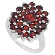 NATURAL RED RHODOLITE 925 STERLING SILVER CLUSTER RING JEWELRY SIZE 4.5 H2633